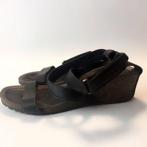 Teva Black Strap wedge sandals